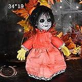 ハロウィーンの装飾歩行人形の声センシング発光表示バーお化け屋敷のシーンのレイアウト (Size : 3)