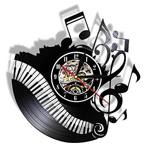 qweqweq Reloj de Vinilo para Sala de conciertos