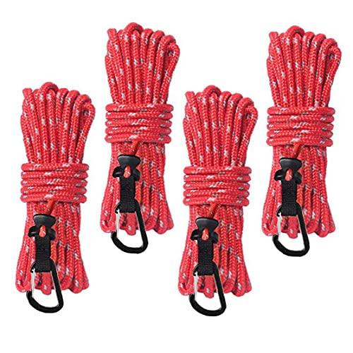 Cubierta reflectante de la cuerda de la tienda al aire libre Se fijó el cable de viento de ajuste rápido con la hebilla Guía de la tienda del cable de la hebilla Cuerda con el ajustador de aluminio