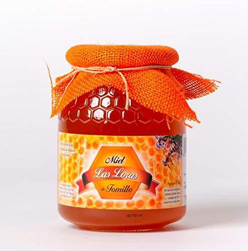 Miel de tomillo natural - 6 tarros de cristal de 1 kg