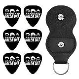 Green Day グリーン・デイ ギターピック オシャレ ベース、カポタスト ギター、カポ アコースティックギター、ウクレレ、エレキギター用 ピック トライアングル 6枚セット プレゼント 0.71mm