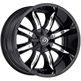 Vision 423 Manic Gloss Black Machined Face Wheel Finish (18 x 9. inches /6 x 135 mm, -12 mm Offset)
