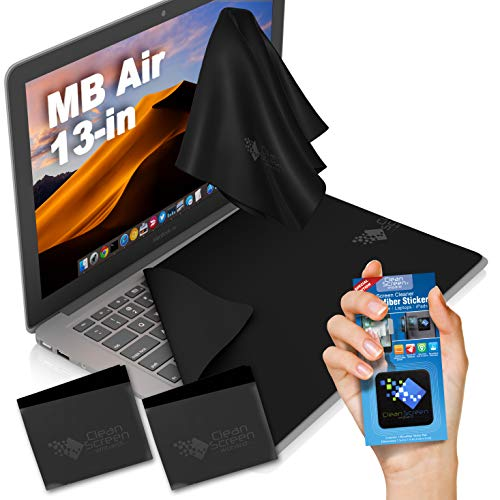 """CLEAN SCREEN WIZARD Microfiber Liner Cleaning Cloths Macbook Air 13"""" with Laptop Screen Keyboard Imprint Protection Compatible with MacBook Air 13, 2 PCS"""