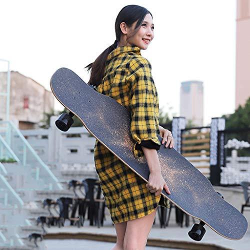 Y-Sport Longboard dans standard skateboards kors för nybörjare 110 cm lönn dubbel kedja däck för vuxna barn ungdomar utomhussporter