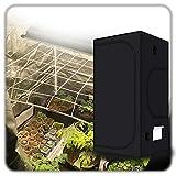 ZXD Grow Tent, Growbox 600D Reflektierendes Mylar Mit Beobachtungsfenster Und Abnehmbar Bodenschale,...