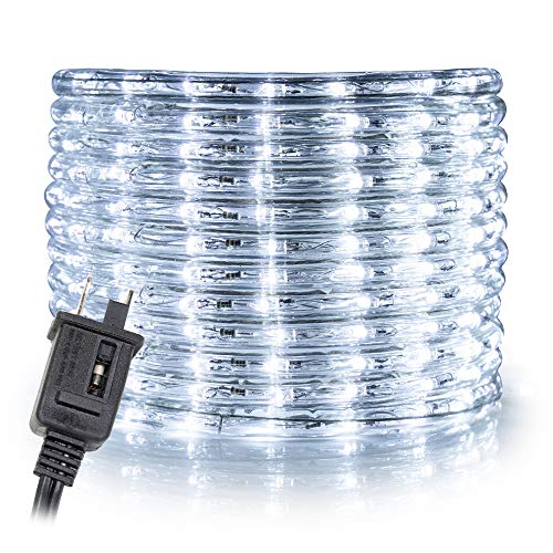 """WYZworks 25' feet Cool White 3/8"""" LED Rope Lights"""