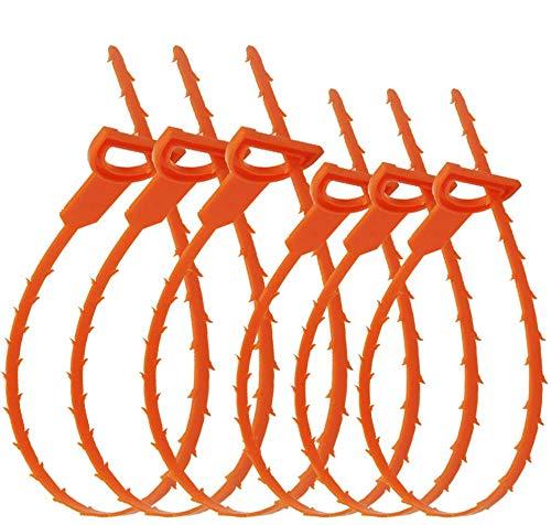 IHUIXINHE 6PC Abfluss Schlange Haarabfluss Clog Remover Reinigungswerkzeug Reinigung Tool für Küche/Waschbecken