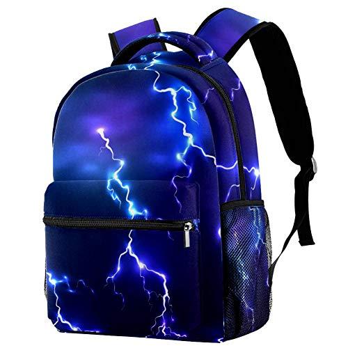 LORVIES Atmosphere Lightning Casual Rucksack, Schulterrucksack, Büchertasche für Schule, Studenten, Reisetaschen