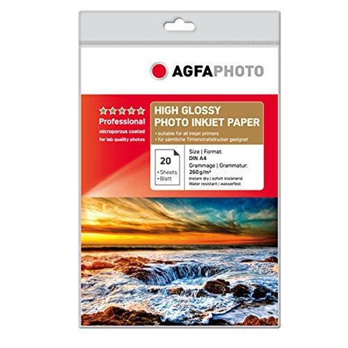 AgfaPhoto Photo Papier, A4, 260 gram, 20 Blatt