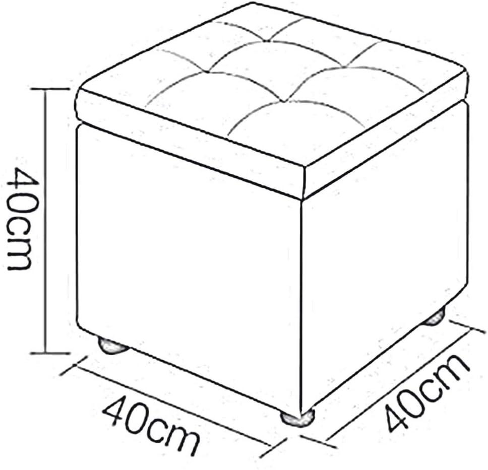 Dall Poufs Et Repose-Pieds Cubes De Rangement Tabouret De Canapé Multifonction Gain De Place Mode Accueil Banc De Chaussures (Couleur : Orange) Beige