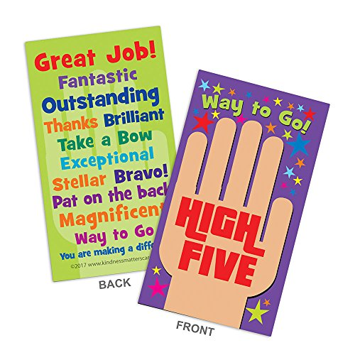 High Five Appreciation Cards  Box of 100 Cards for Teachers, Employers, Friends, Co-Workers, Family
