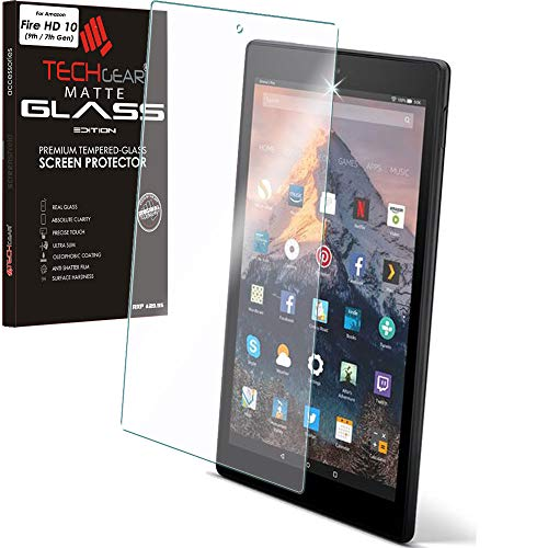 TECHGEAR Antirreflejo Protector de Pantalla para Amazon Fire HD 10