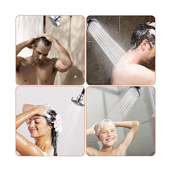 Tancuder – Cabezal de ducha con lluvia redondo ajustable y de alta presión, 5 modos, cabezal de ducha de ahorro para…