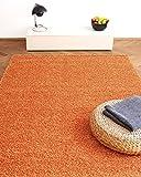Alfombra Moderna Colors Naranja 160x230cm - Alfombra Shaggy al Precio súper económico
