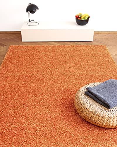 Alfombra Moderna Colors Naranja 200x290cm - Alfombra Shaggy al Precio súper económico