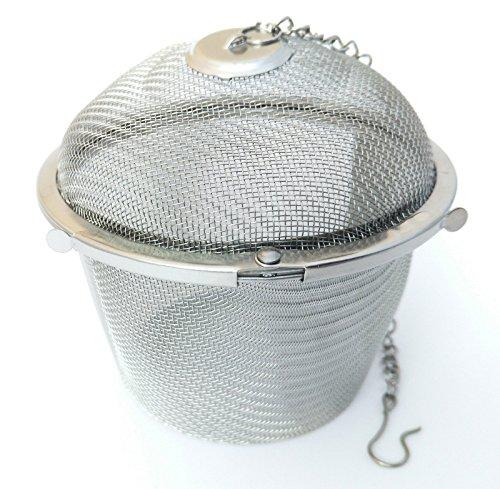 Handel24NET Gewürzsieb aus hochwertigem Edelstahl mit einen Ø von ca. 8,5 cm - Teefilter für losen Tee der in Einer Kanne aufbereitet Werden soll - Universell einsetzbar im Haushalt