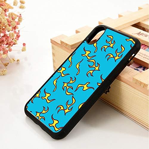 WGOUT para iPhone 5 5S 6 6S Funda de Gel de sílice de TPU Suavepara iPhone 7 Plus X XS 11 Pro MAX XR Rayo Azul Dorado Pola, para iPhone 11 Pro