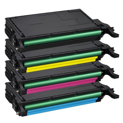 Tito-Express PlatinumSerie 4 Toner-Kartuschen XXL für Samsung CLP-620 Black Cyan Magenta Yellow CLX-6220FX CLX-6250FX kompatibel mit Samsung CLT-5082L