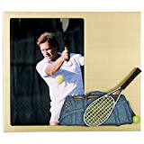 X2 Depot Tennis Theme Metal Picture Frame with Gold/Pearl Finish