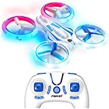 Force1 UFO 4000 LED Mini Drone for Kids - Remote Control Drone, Small RC Quadcopter for Beginners with LEDs, 4-Channel Remote Control, 2 Speeds, and 2 Drone Batteries