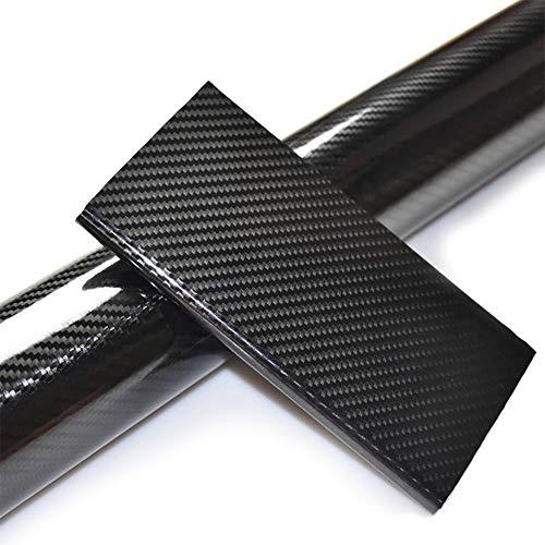 Speyang 6D Carbon Folie Auto, Autofolie Carbon Vinyl Wrap 30cm x 152cm, Lackschutzfolie Carbon, Wasserdichter Flexibel Carbon Folie Kohlefaser Autoaufkleber mit Luftkanäle (Schwarz)
