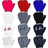 Syhood 12 pares de guantes de punto para niños pequeños estiran los dedos llenos del...