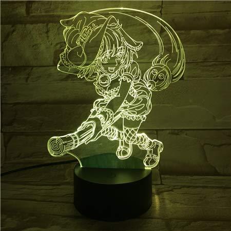 Servicio de entrega de Kiki Japanese Anime Cartoon Comics 3D LED Night Light USB Lámpara de mesa Niños regalo de cumpleaños Mesita de noche decoración del hogar
