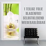 XXL-Tapeten Türtapete selbstklebend TürPoster Bambusblüte im Format 90x210cm - Türfolie Klebefolie von Trendwände