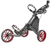 Caddytek ez-Fold 3Rueda Carrito de Golf, Rojo