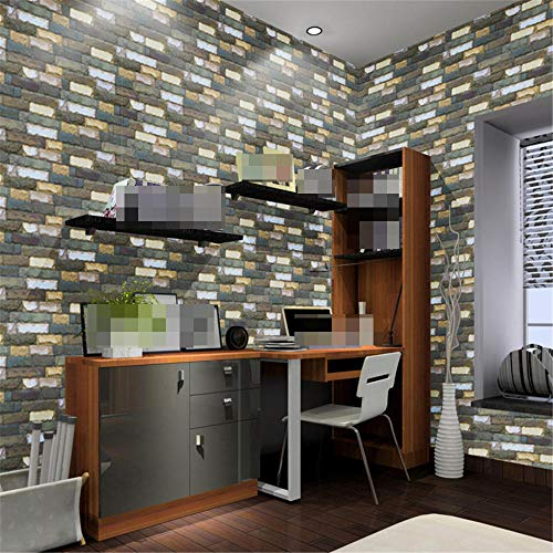 qin-er-2019 Wall wallpaper Papel Pintado Autoadhesivo de PVC para salón/Dormitorio, vestidor de Comedor/Dormitorio con Pegatinas @ B_ 45 * 1000 cm