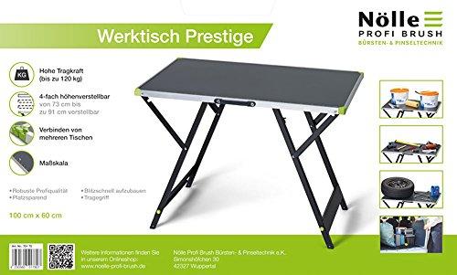 NÖLLE PROFI BRUSH 70170 Werktisch Prestige, 4-fach höhenverstellbar