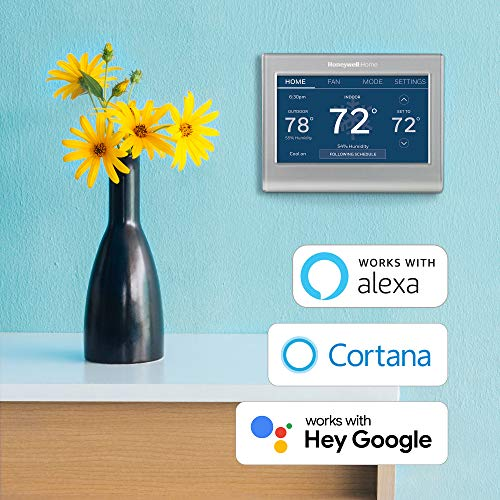 Honeywell Home RTH9585WF1004 Wi-Fi Smart Color Thermostat, 7 Day Programmable, Touch Screen, Energy Star, Alexa Ready