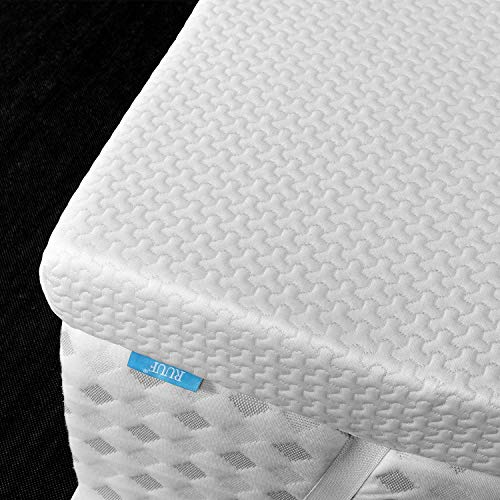 RUUF3-Inch Firm Mattress Topper California King (Cal King), High Density Memory Foam Bed Topper with Removable Hypoallergenic Cooling Cover