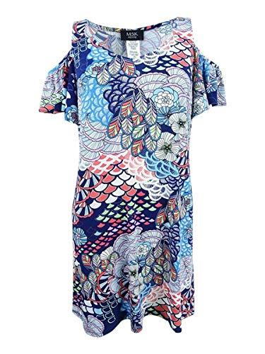 MSK Women's Petite Cold-Shoulder Dress (PM, Sky Lilac)