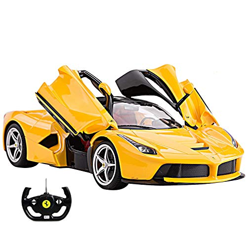 1/14 Scale Ferrari La Ferrari LaFerrari Radio Remote Control Model Car R/C RTR Open Doors (Yellow) by FMTStore