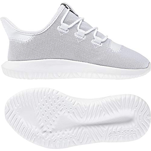 adidas Unisex-Kinder Tubular Shadow C Fitnessschuhe, Weiß (Ftwbla/Ftwbla/Ftwbla 000), 28 EU