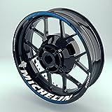 Felgensticker Motorrad Komplett-Set (17 Zoll) - Felgenaufkleber Michelin (Einfach - Glänzend)