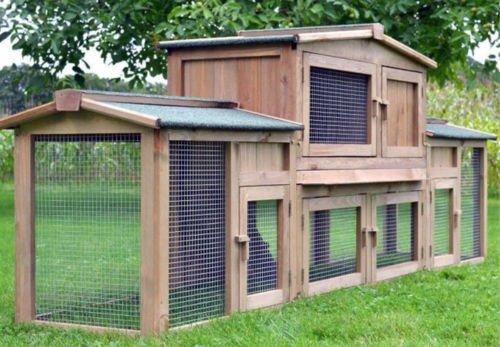 """ZooPrimus Kleintier-Stall Nr 2 XXL Kaninchen-Käfig """"DR. HASE"""" Meerschweinchen-Haus für Außenbereich (Geeignet für Kleintiere: Hasen, Kaninchen, Meerschweinchen usw.) - 4"""