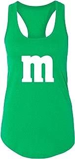 M Halloween Team Costume Party Women Ladies Racer Back Tank Top