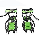 BRS Edición Profesional Catorce dientes Crampons de hielo Cubiertas para zapatos de nieve para...