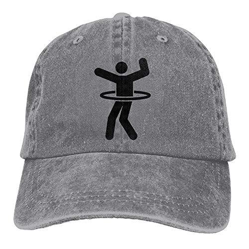 iqishengma Hula Hoop Casual Denim Baseball Cap Schirmmütze Hut Einstellbare Sport Trucker Cap Für Männer Frauen Unisex
