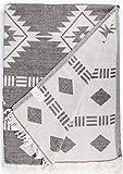 Bersuse Manta turca de Belice, 100% algodón, 190,5 x 228,6 cm, Color Negro