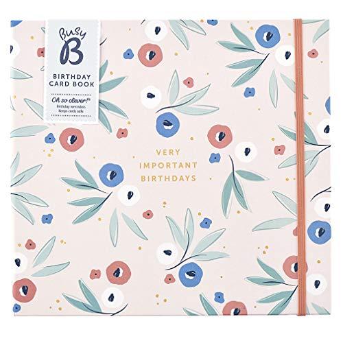Busy B Birthday Card Book - 13 Pockets