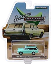 Greenlight 1/64 Estate Wagons 2-1965 Volkswagen Type 3 Squareback - Birch Green with Roof Rack 1:64 Scale Die-Cast Vehicle