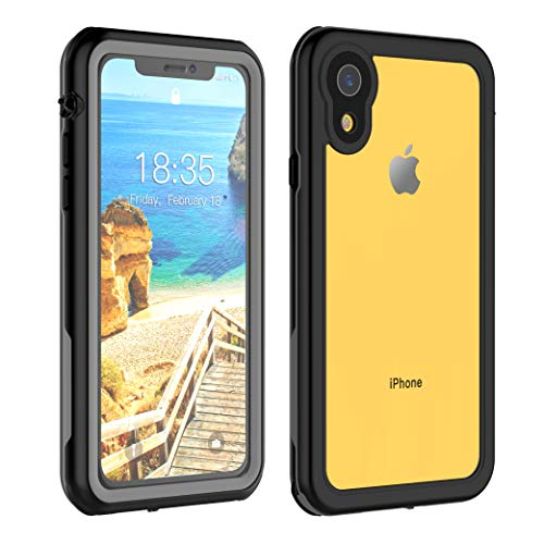 iPhone XR Waterproof Case 6.1 inch, Full Body Protective with Built-in Screen Protector Clear Waterproof Case for iPhone Xr Case 6.1 Inch 2018.