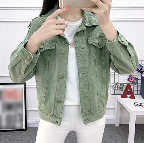NZJK Vrouwen Beige kaki groen basislegende jas denim vrouwen Losse vrouwelijke mantel lente herfst vrouw jas jeans casual