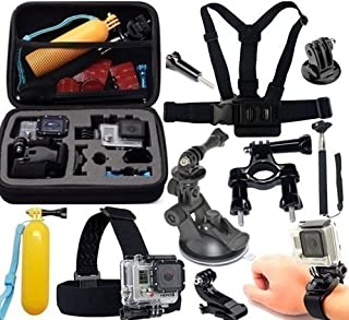 Pacote com Acessórios para câmeras Atrio Gopro Hero 8 Hero 7 Hero 5 Hero 6 Black Silver White Campark Xiaomi Sport Hd Cam ...