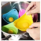 Egg Poacher - Verna's Bazaar Silicone Egg Poaching Cups,For Microwave or Stovetop Egg Cooking,Set of 4(Random Color)