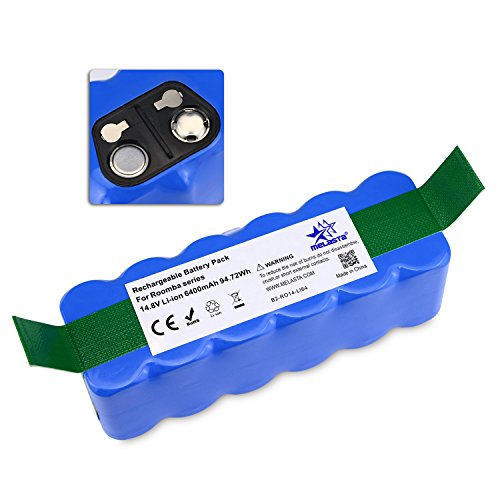 melasta 6400mAh Batería de Litio(Li-ion) para iRobot Roomba 500 600 700 800 serie [Aprobación de UL&CE]