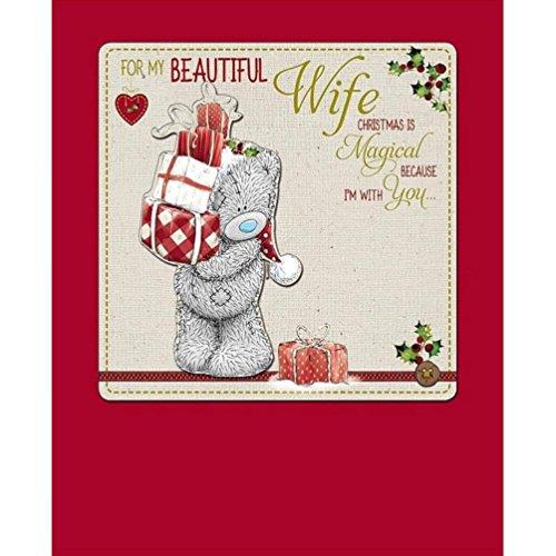 Me to You Tatty Teddy mano biglietto di Natale–moglie
